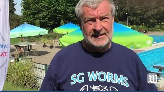 Sponsorenschwimmen der SG Worms im Poseidonbad