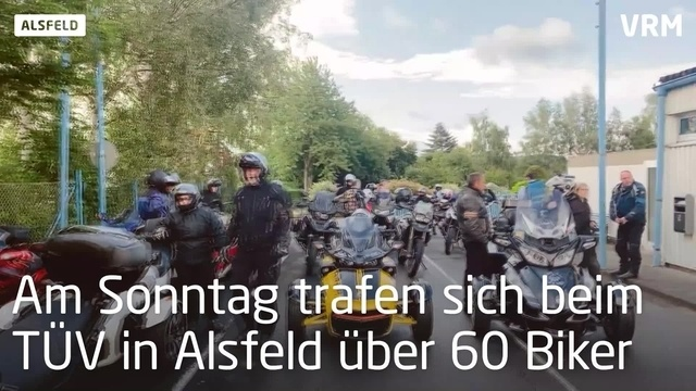 Alsfeld: Biker demonstrieren gegen Fahrverbote