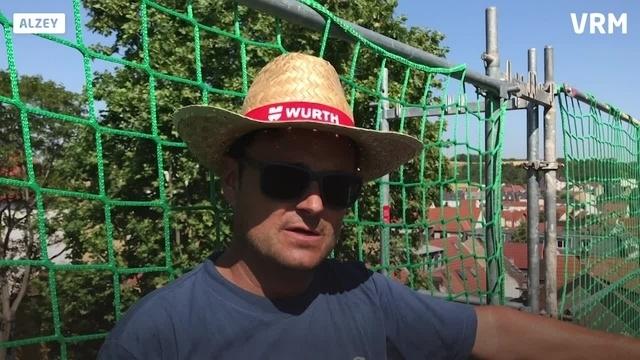 Alzey: Metzgerturm bekommt nach 200 Jahren wieder ein Dach