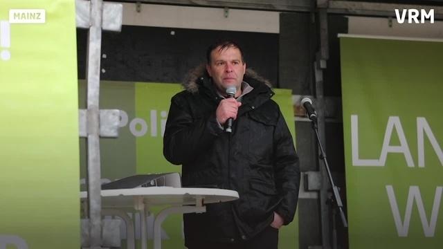 Landwirte protestieren in Mainz