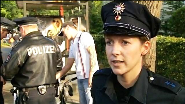 Zielscheibe Polizei