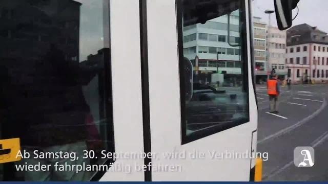 Mainz: Straßenbahn fährt wieder durch Bahnhofstraße