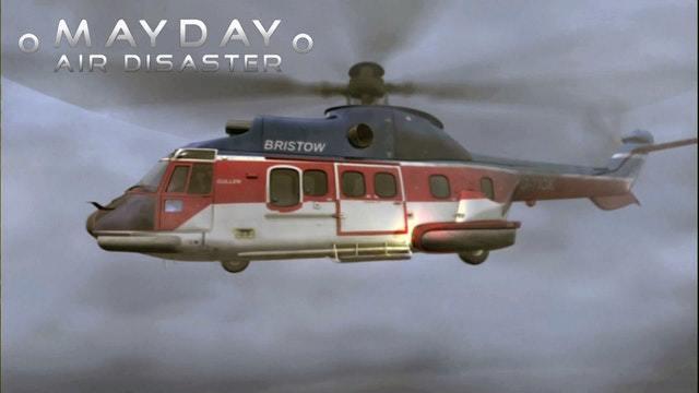 Hubschrauber in Not