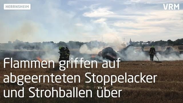 Feuerwehreinsatz zwischen Herrnsheim und Neuhausen