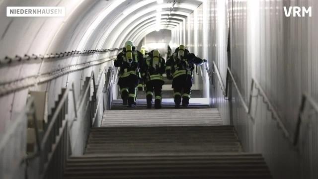 Notfallübung am Niedernhausener ICE-Tunnel