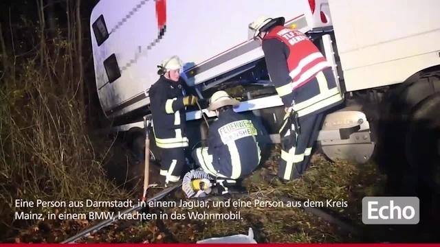 Schwerer Unfall auf der A5 bei Bensheim