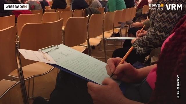 Diktatwettbewerb in Wiesbaden