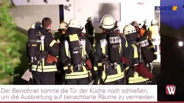 Idstein: Brand in Gasthaus