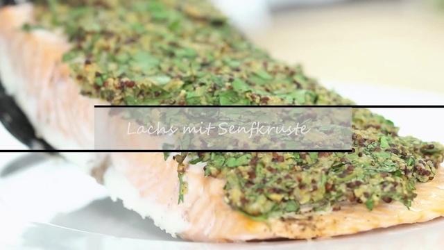 Lachs mit Senfkruste