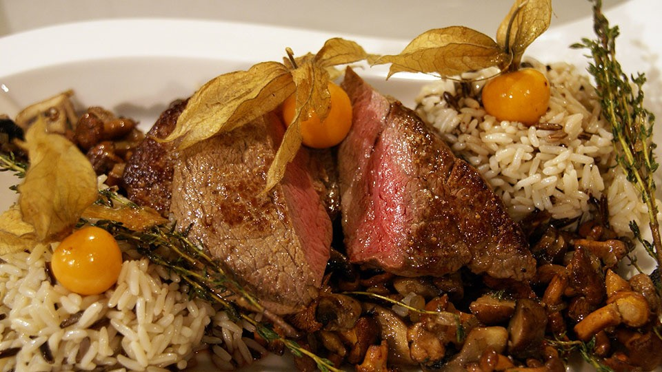 Filet-Steak mit Pilzen