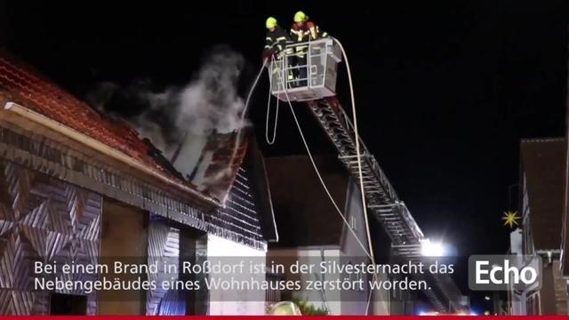 Roßdorf: Feuer zerstört Wohnmobil und Teile eines Wohnhauses