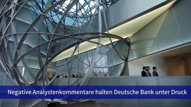 Aktie im Fokus: Deutsche Bank weiter unweit des Rekordtiefs