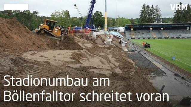Der Stadionumbau am Böllenfalltor schreitet voran