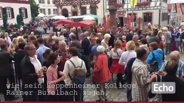 Weinfest-Eröffnung in Heppenheim