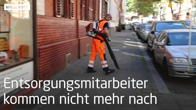 Wiesbaden: Müll im inneren Westend