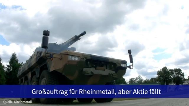 Aktie im Fokus: Großauftrag für Rheinmetall, aber Aktie fällt