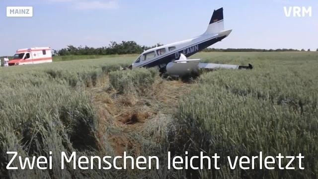 Notlandung am Flughafen Mainz-Finthen