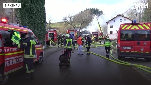 In Birkenau explodiert ein Haus und wird total zerstört