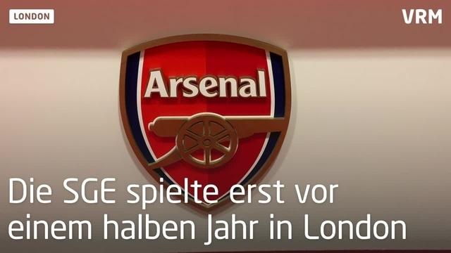 Eintracht: Eindrücke vor dem Spiel gegen Arsenal London