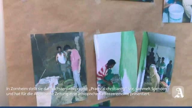 Zornheim: Patenkind zeigt äthiopisches Brauchtum