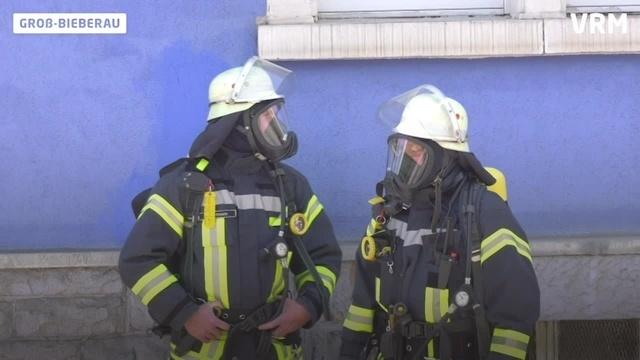 Großbrand bei Holzverabreitungsfirma in Groß-Bieberau