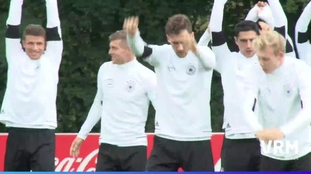 Die Nationalmannschaft in Frankfurt