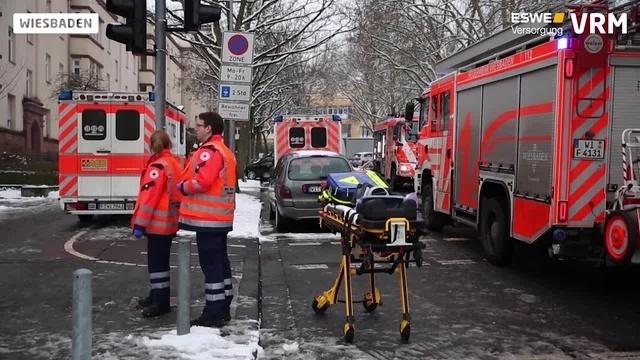 Kellerbrand in der Wiesbadener Innenstadt