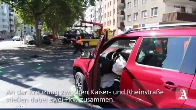 Schwerer Unfall in der Mainzer Kaiserstraße