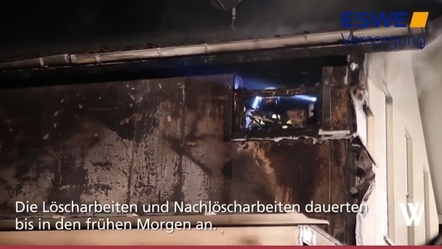 Brand in Hünstetten-Kesselbach