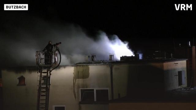 In Butzbach brennt ein Hochhaus