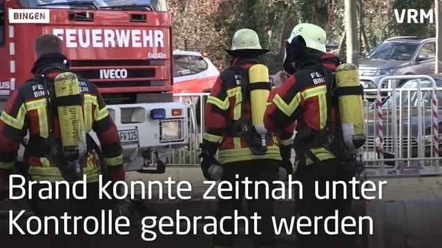 Dachstuhlbrand in Bingen