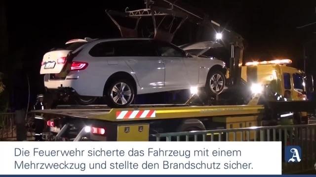 Unfall in Armsheim - Auto landet im Wiesbach