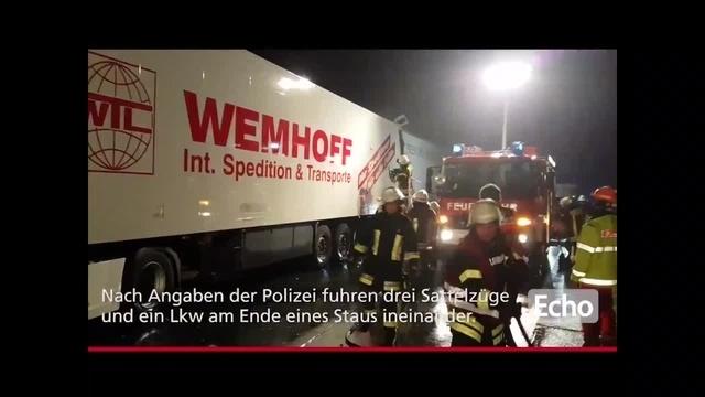 Schwerer Verkehrsunfall auf der A5 bei Bickenbach