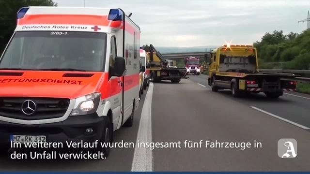 Bingen: Schwerer Unfall auf der A60