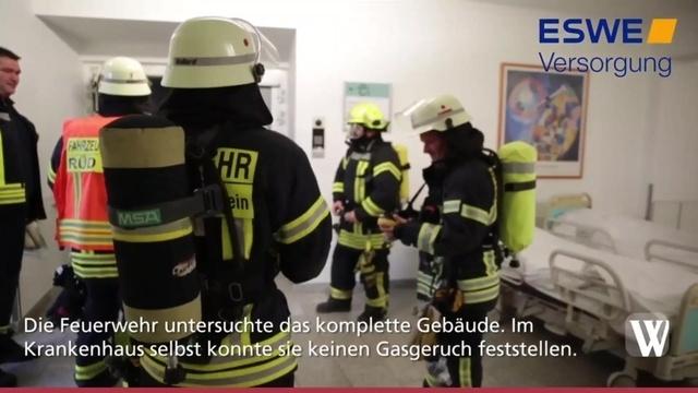 Feuerwehreinsatz am Rüdesheimer Krankenhaus