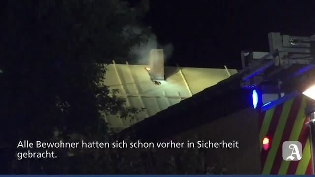 Dachstuhlbrand in Oppenheim