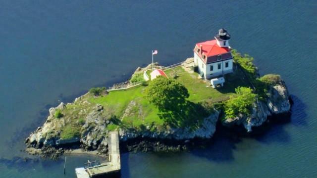 Rhode Island aus der Luft