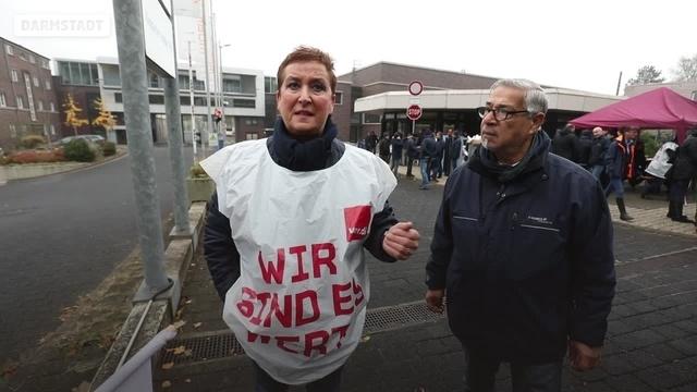 Busfahrerstreik in Darmstadt