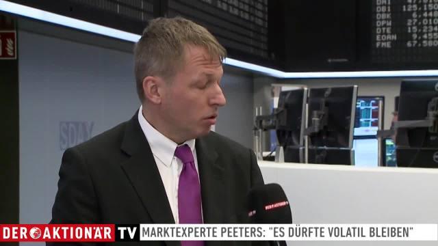 """Experte Peeters: """"Anleger müssen weiter mit Volatilität rechnen"""""""