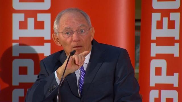 Wolfgang Schäuble zur Lage in Europa