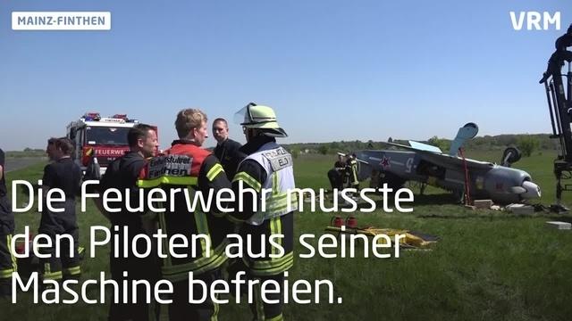 Mainz-Finthen: Flugzeug überschlägt sich nach Landung
