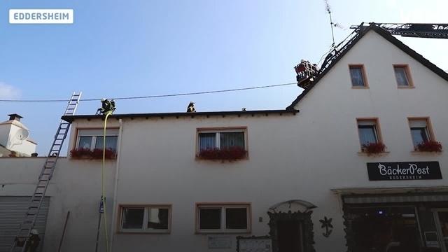 Dachbrand in Eddersheim
