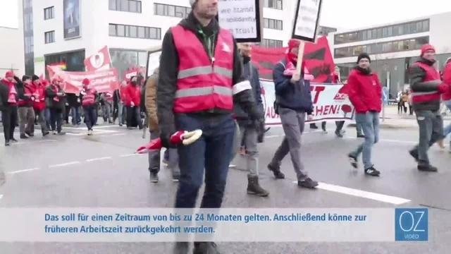 IG Metall demonstriert in Gießen