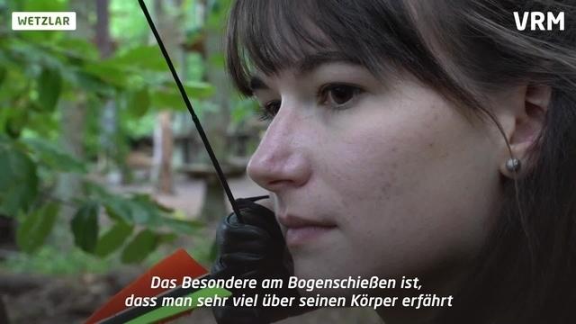 Anna-Lena in Aktion: Bogenschießen in Wetzlar