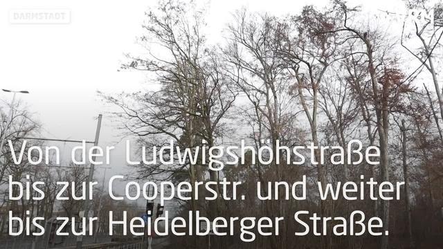 Straßenbahnausbau in Darmstadt