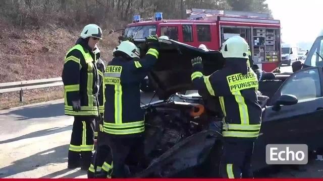 Vollsperrung nach Unfall auf A5 bei Seeheim-Jugenheim