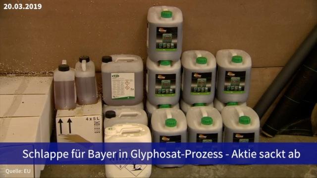 Aktie im Fokus: Schlappe für Bayer in Glyphosat-Prozess - Aktie sackt ab