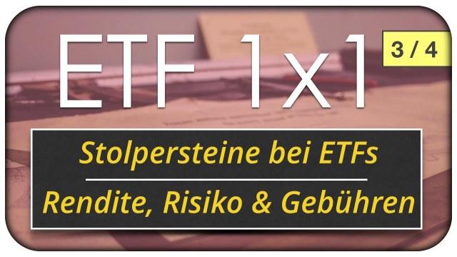 ETF - Passives Investieren: Rendite, Risiko, Gebühren & Replikation 3/4