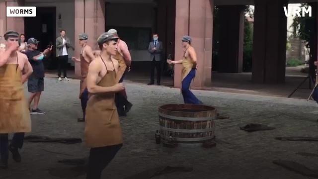 Inoffizielle Eröffnung des Stattfischfests in Worms