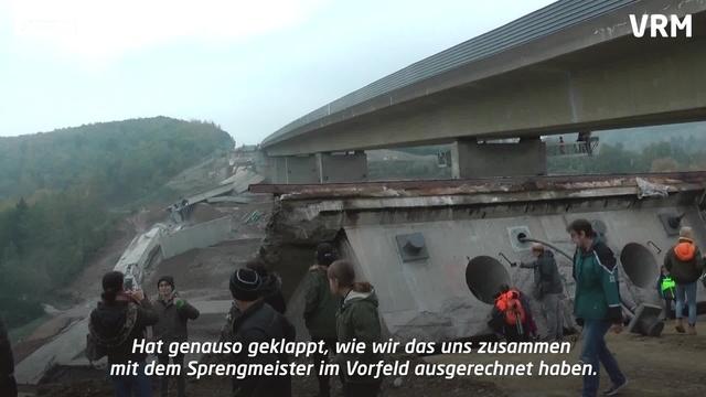 61,5 Kilo Sprengstoff legen Talbrücke flach